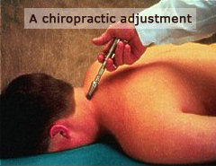 patient receiving a chiropractic adjustment